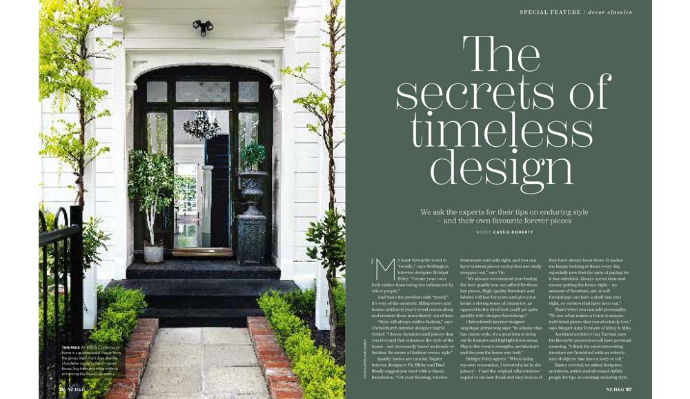 Bridget Foley Interior Designer Wellington in NZ House & Garden November 2018 issue