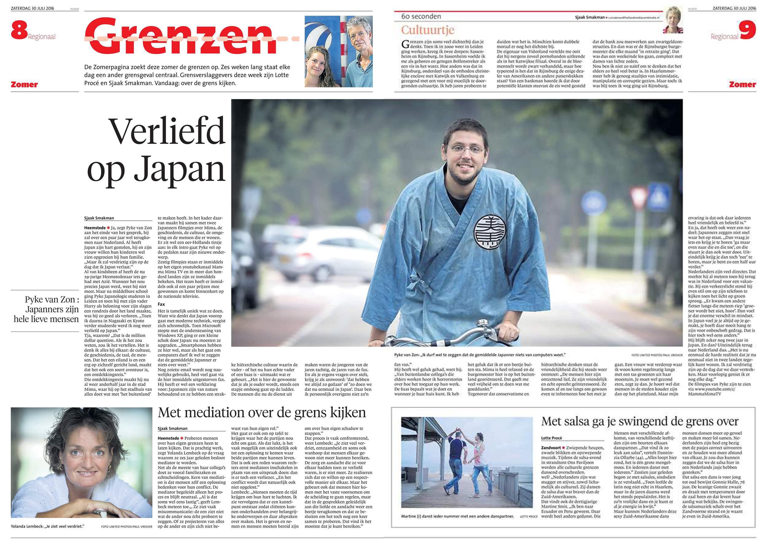 Haarlems Dagblad (Sat. July 30th, 2016)