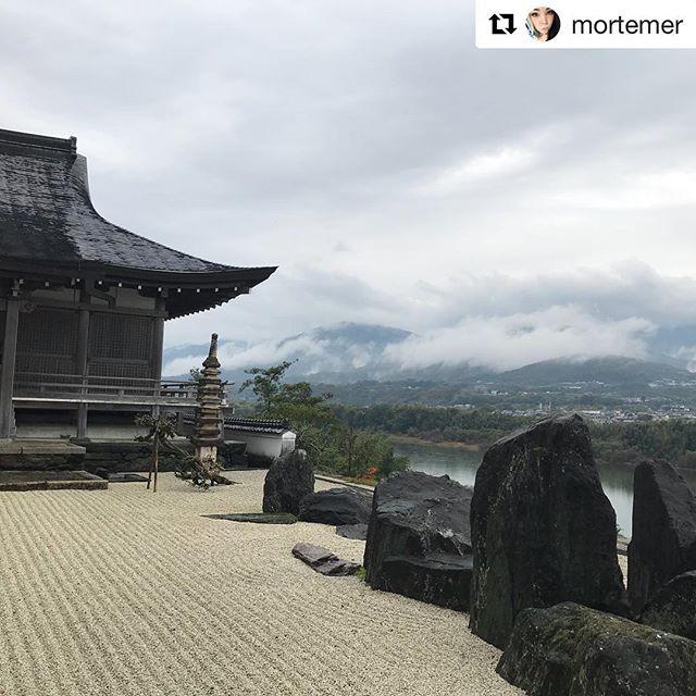 Beautiful views of Mima!  #Repost @mortemer ・・・ Honraku temple in Mima, Japan 🇯🇵🖤