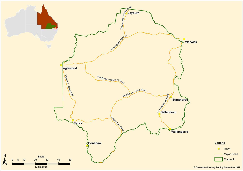 Map of Traprock region