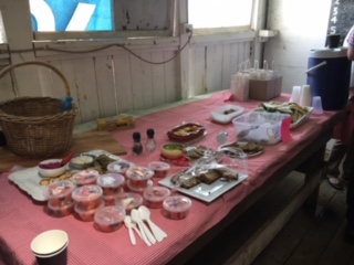 Some lovely healthy food made by Traprock members