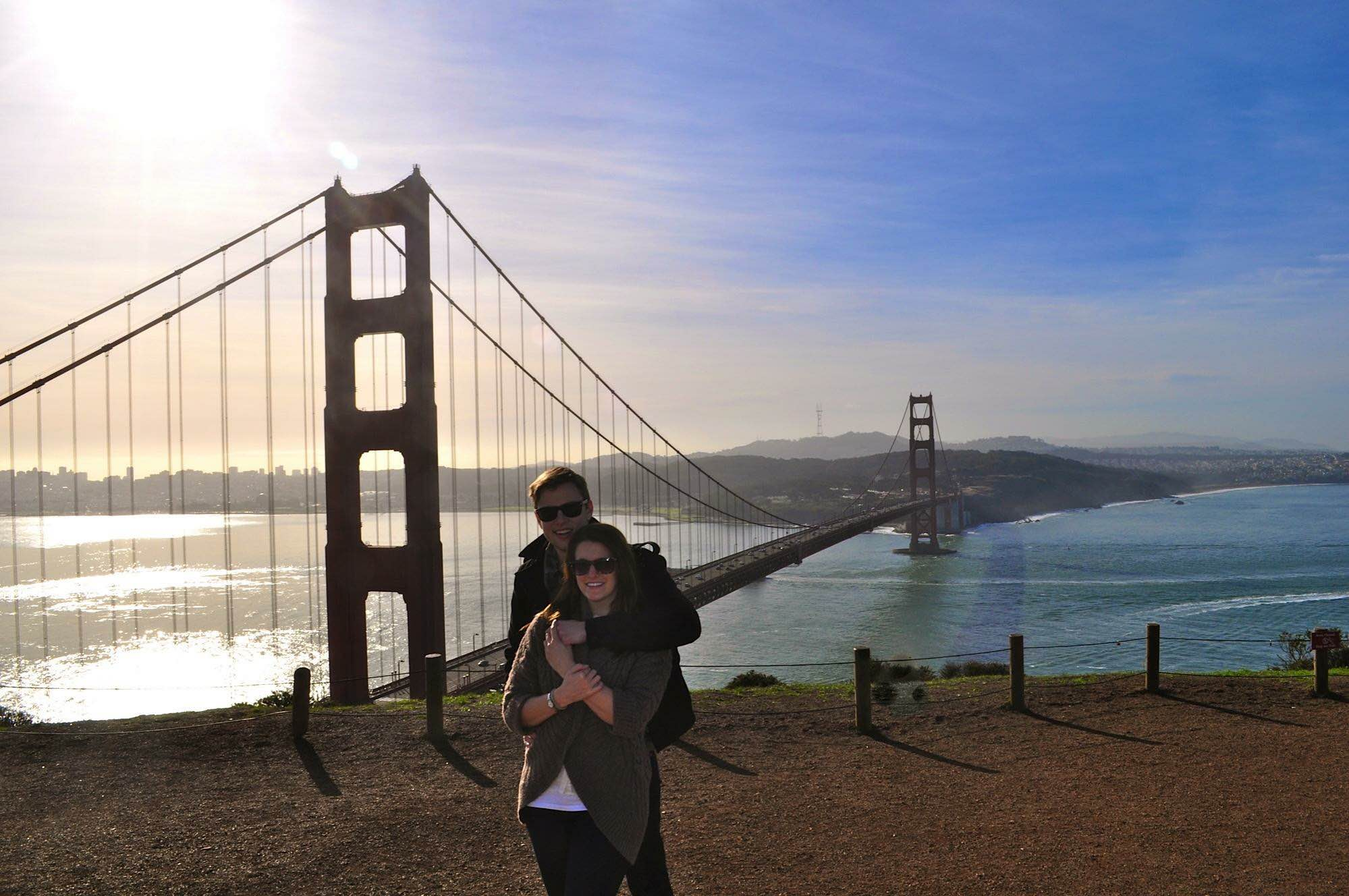 The best place for a photo of the Golden Gate Bridge, Battery Spencer.