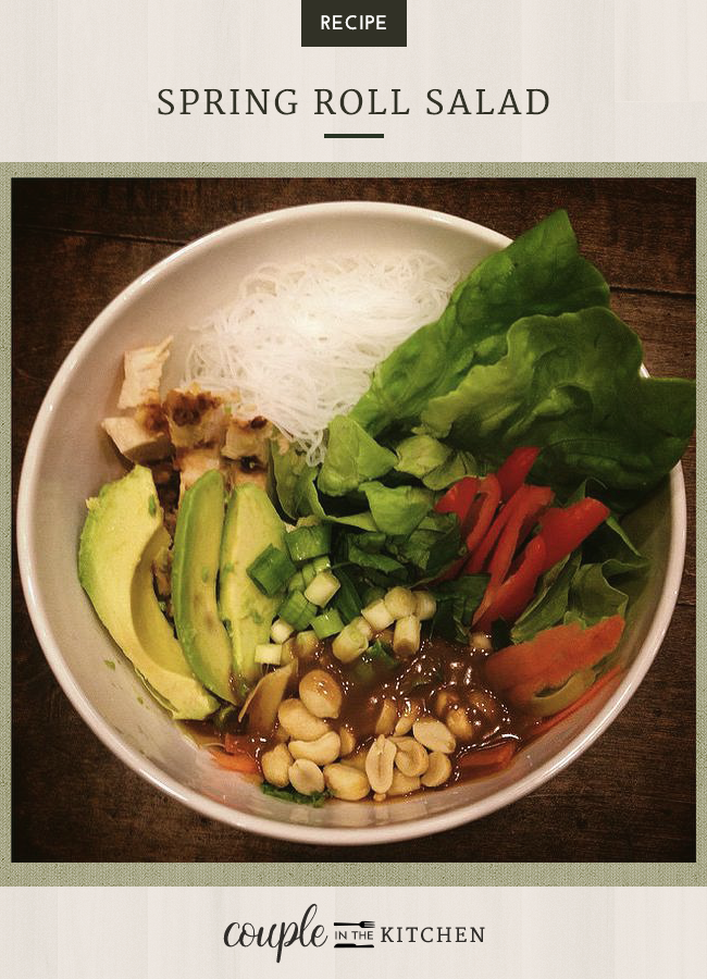 Vietnamese Chicken, Avocado Spring Roll Salad Recipe