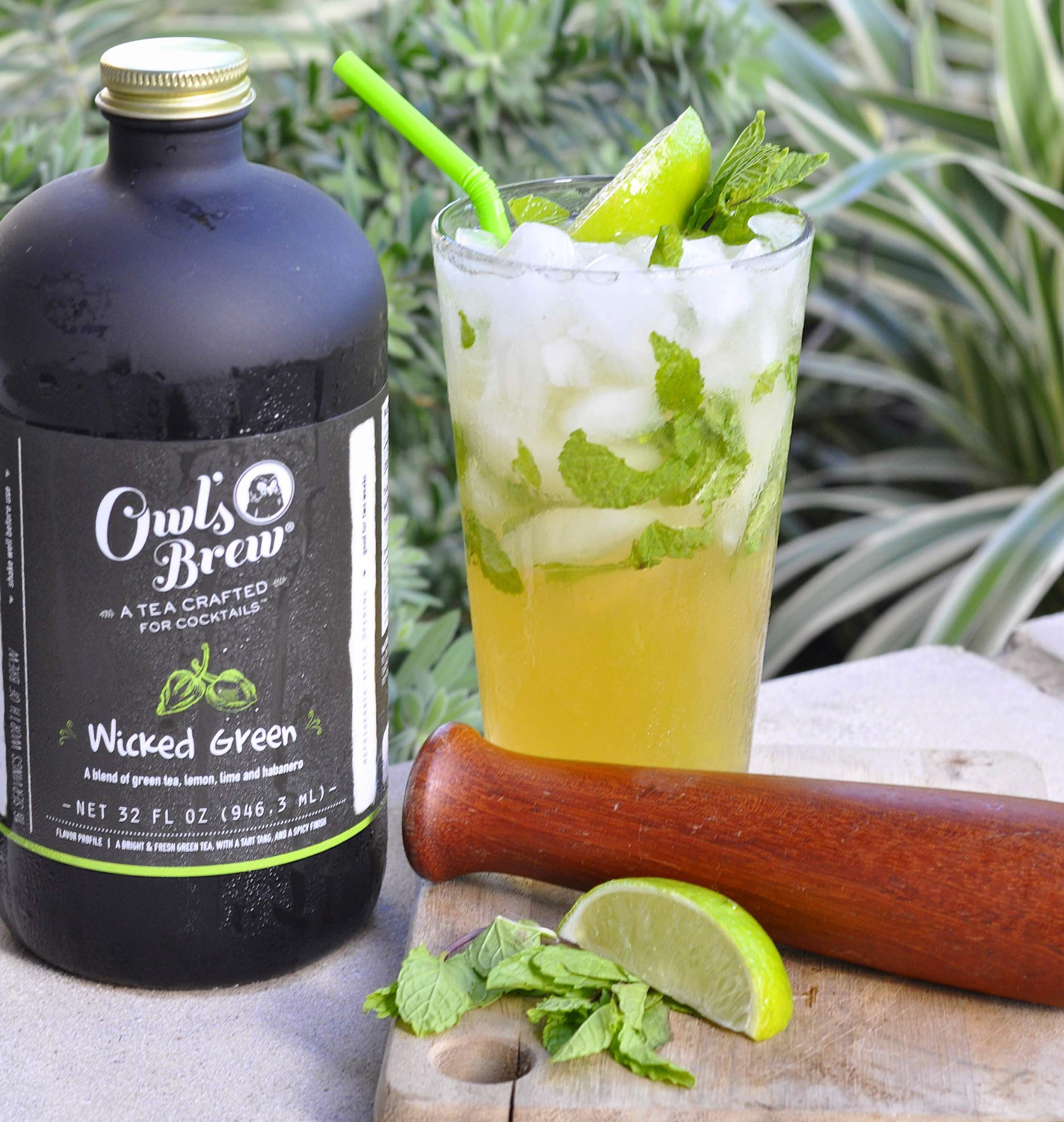 mojito cocktail recipe tea-infused owl's brew