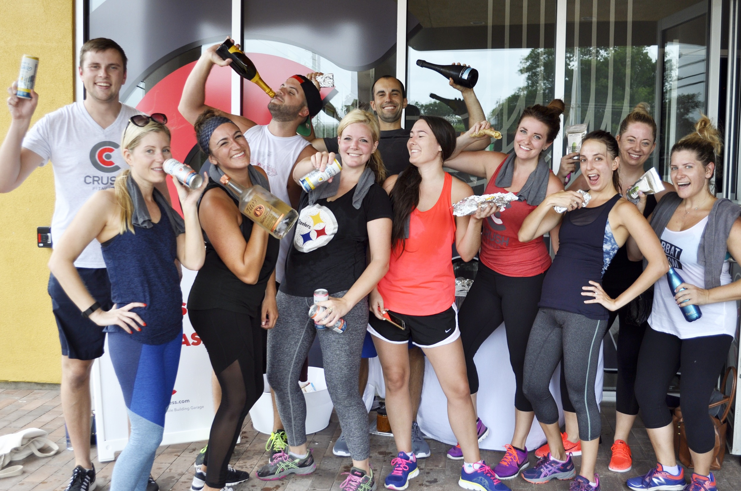 Celebrating AFTER the Crush Fitness blogger event
