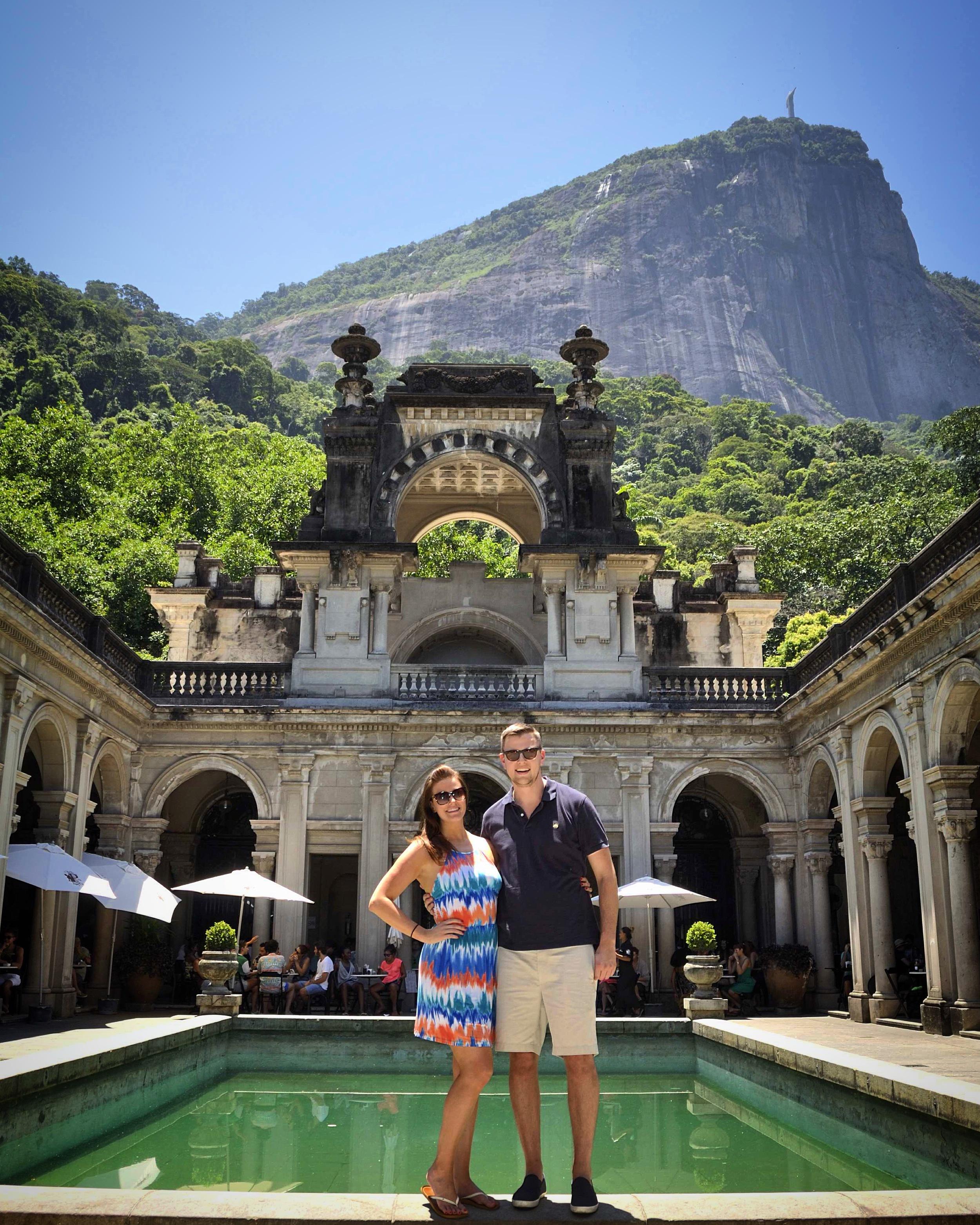 Rio De Janeiro, Brazil - Parque Lage - Christ the Redeemer