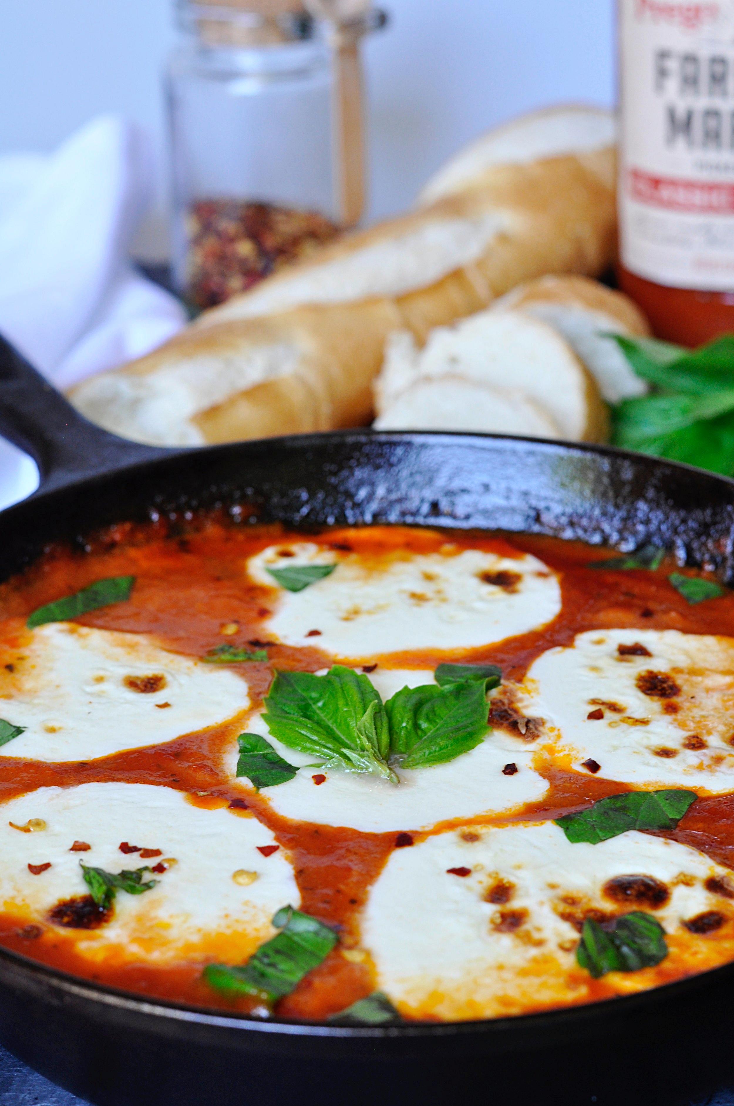 Mozzarella and Marinara Dip Recipe | coupleinthekitchen.com