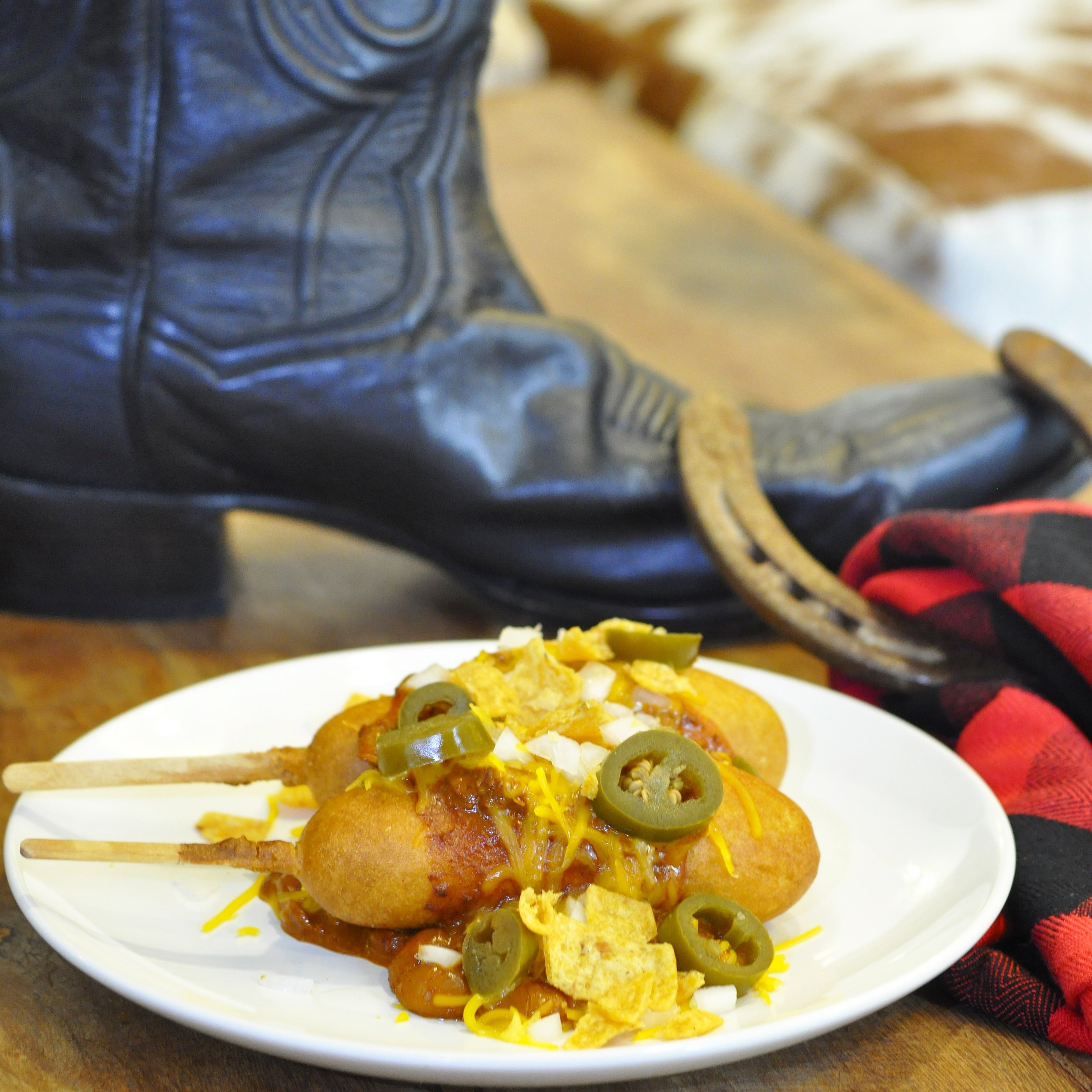 Frito Pie State Fair Corn Dogs | coupleinthekitchen.com