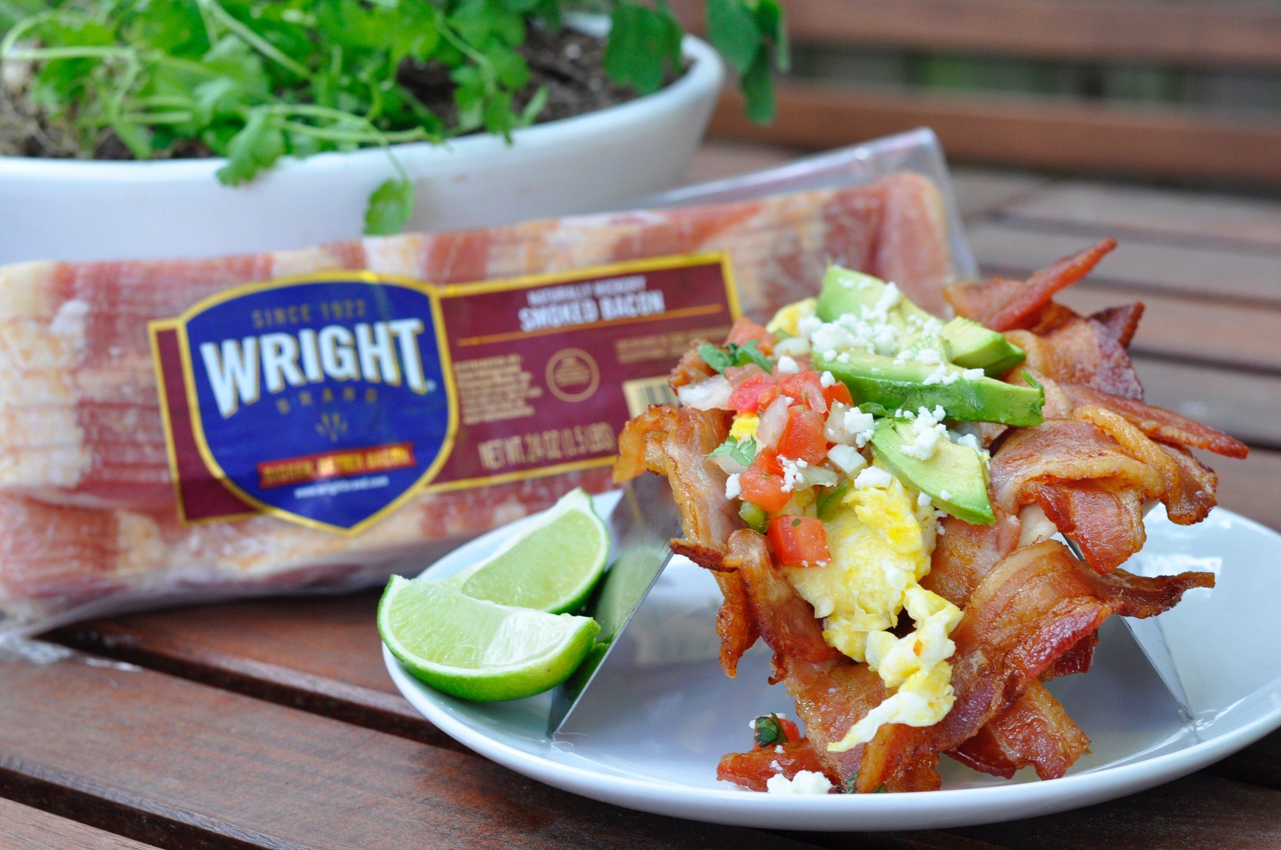 Bacon Breakfast Taco Recipe | coupleinthekitchen.com