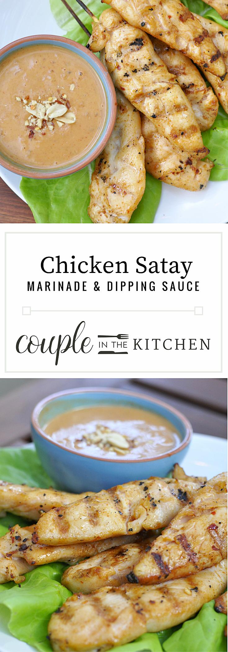 Chicken Satay Recipe   coupleinthekitchen.com