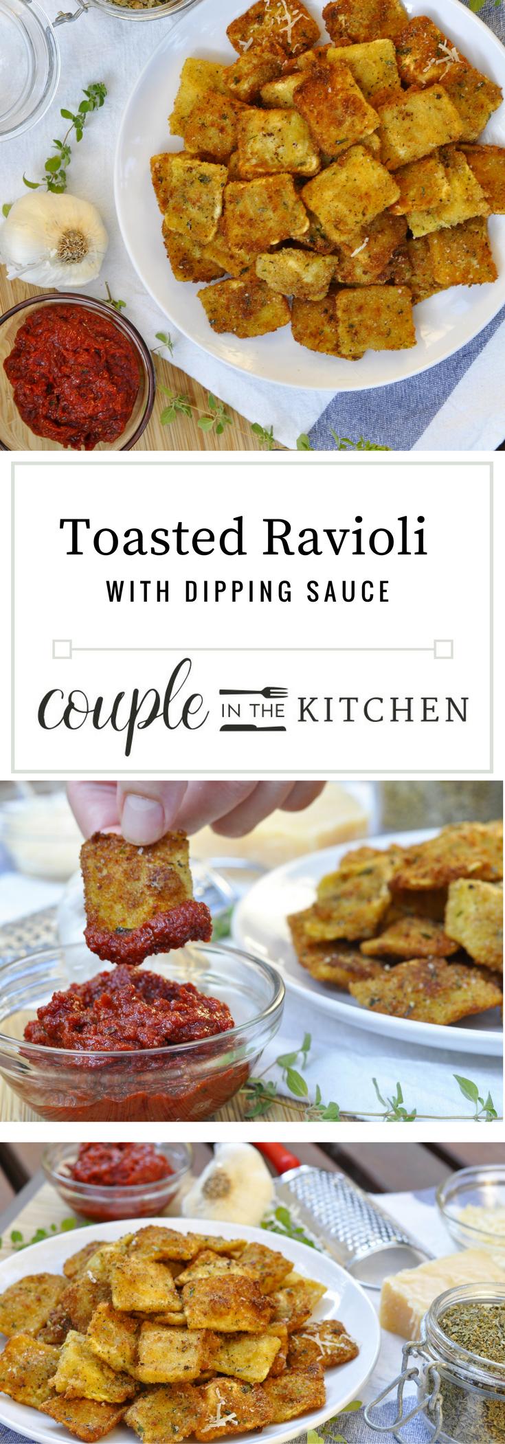 Toasted Ravioli Recipe | coupleinthekitchen.com