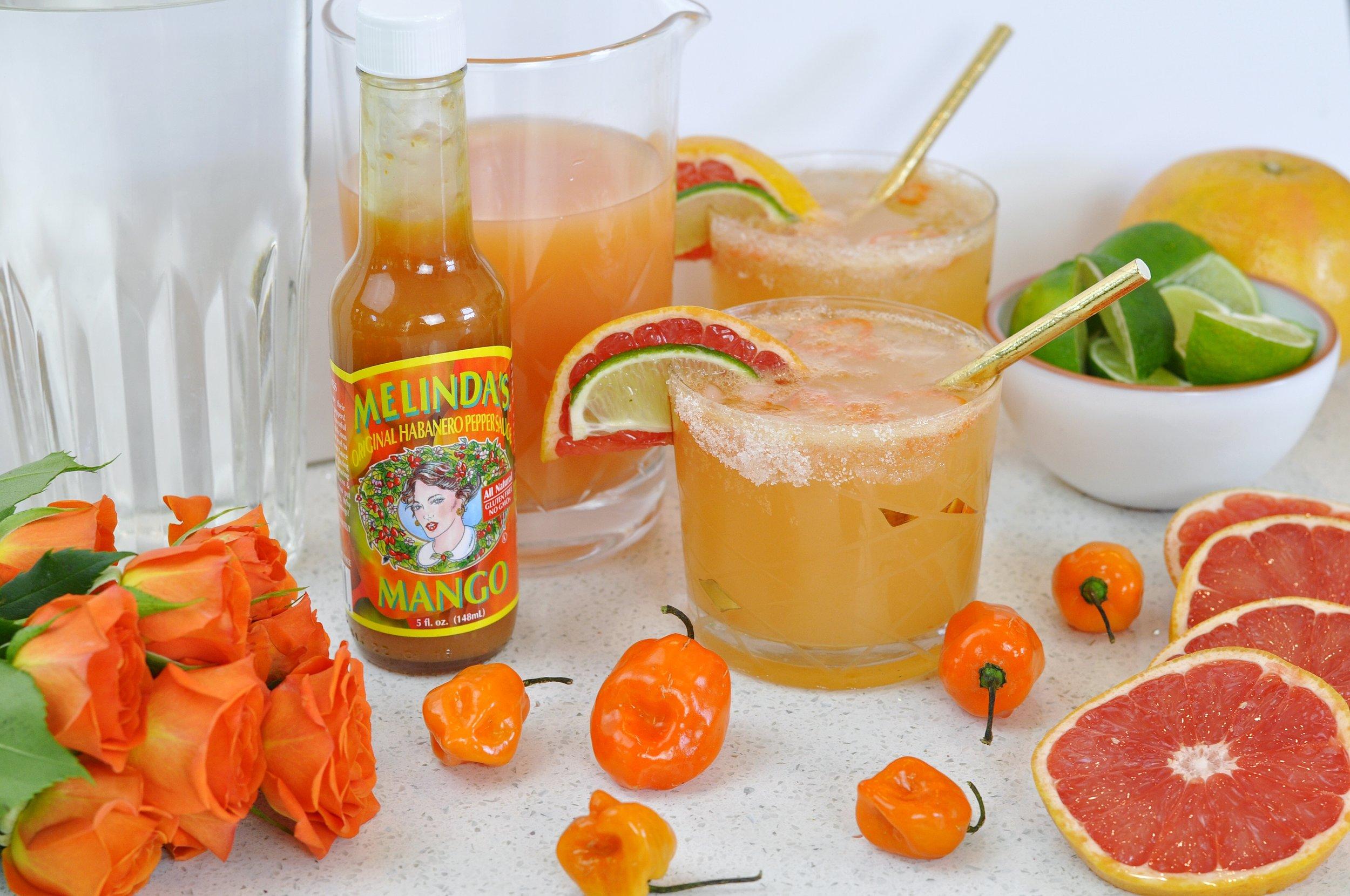 Spicy Paloma Cocktail Recipe with Mango Habanero | coupleinthekitchen.com