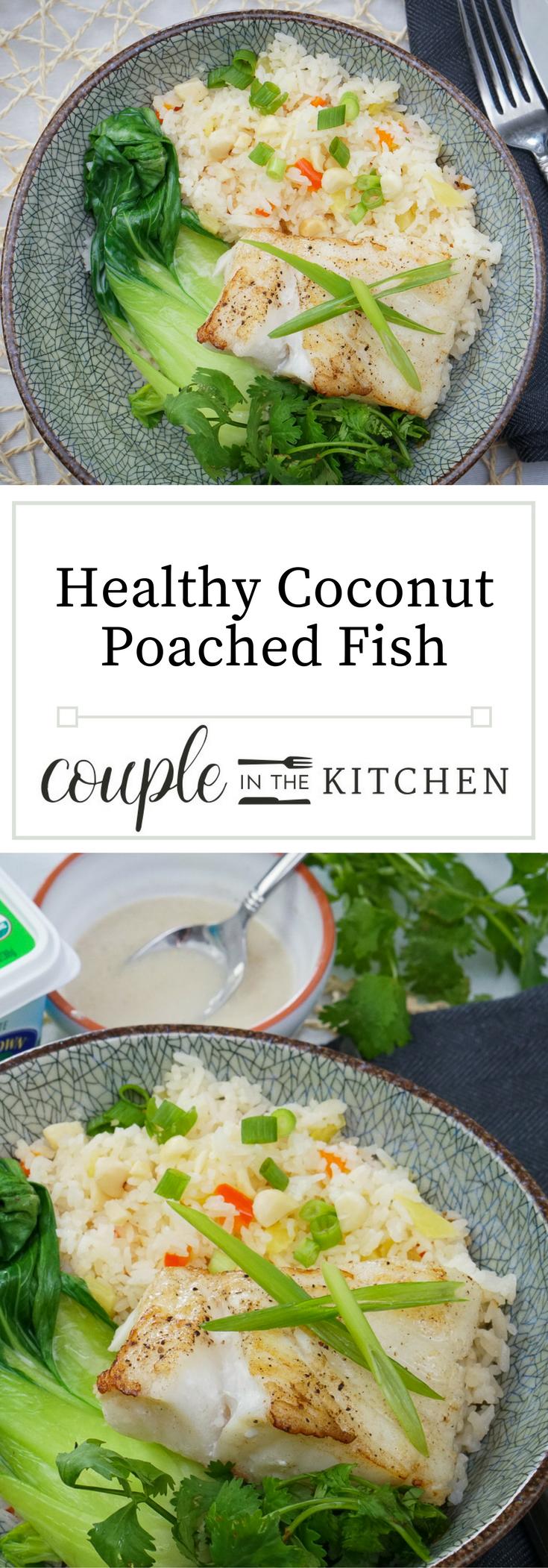 Healthy Coconut Poached Fish | coupleinthekitchen.com