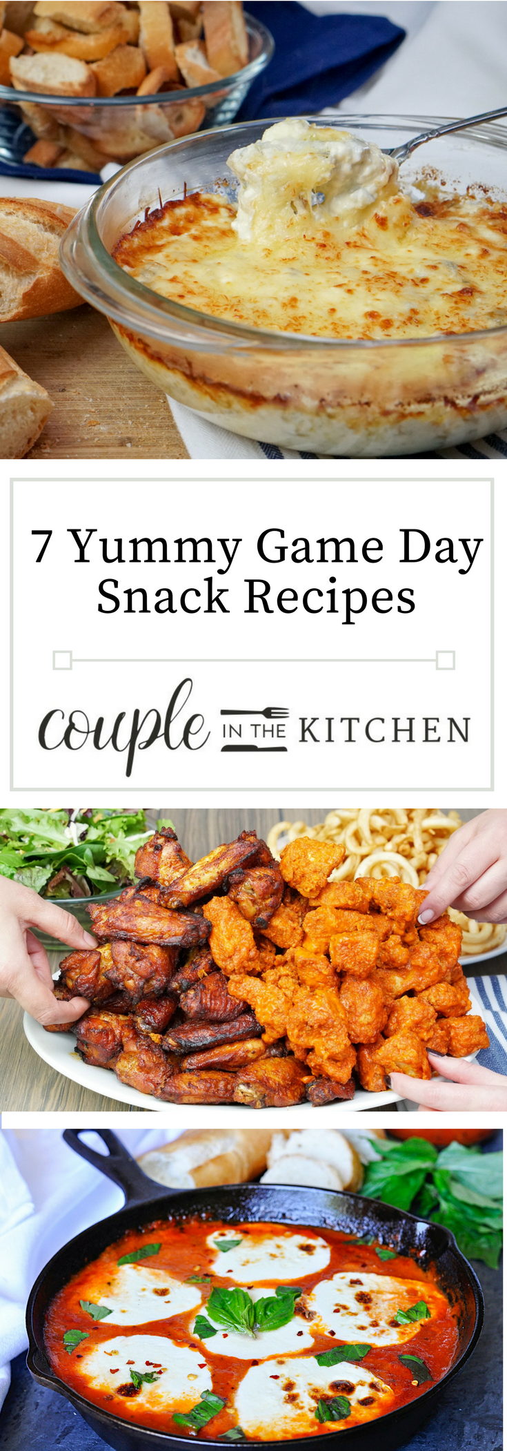 7 Yummy Game Day Snack Recipes | coupleinthekitchen.com