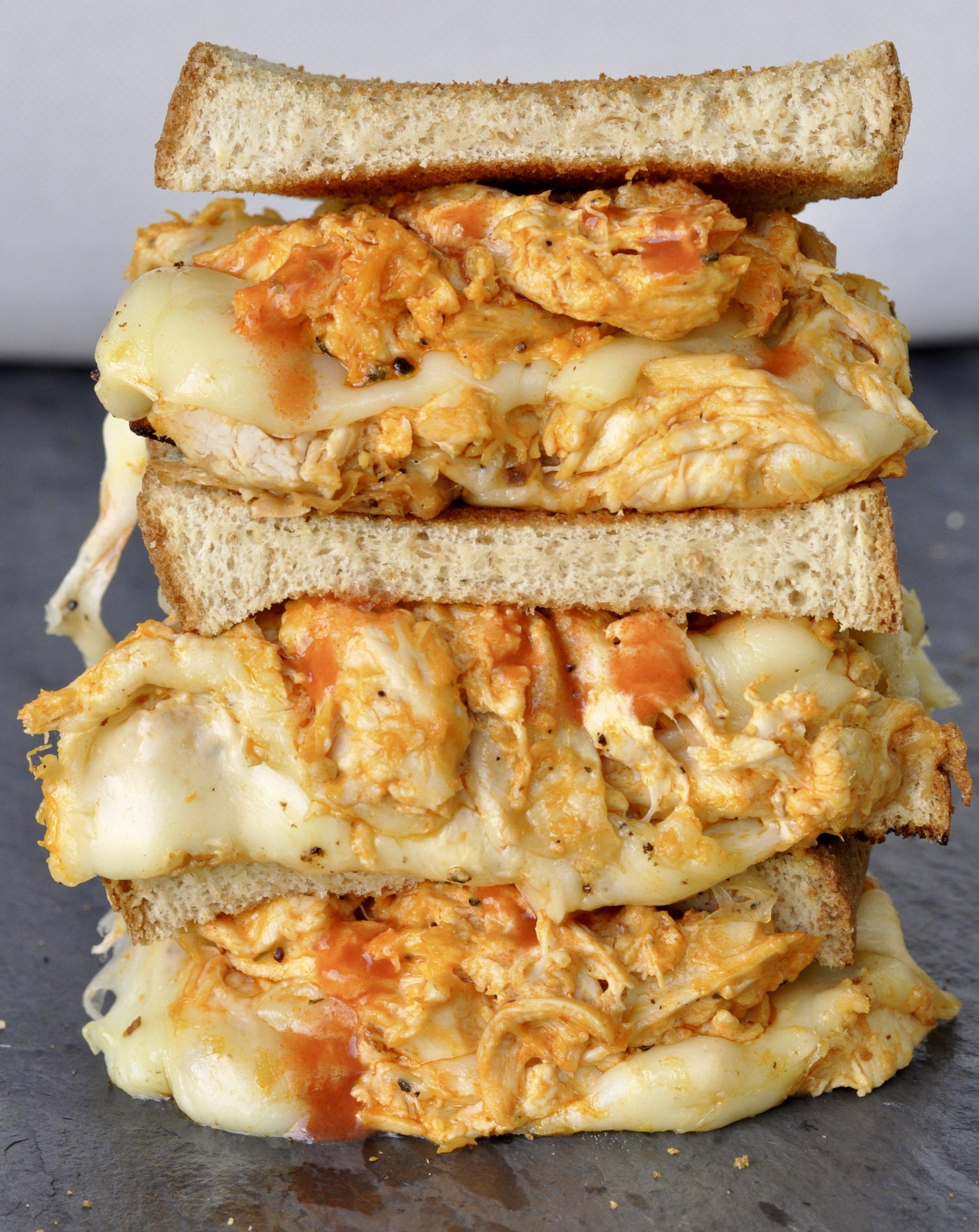 Buffalo Chicken Grilled Cheese Recipe | coupleinthekitchen.com