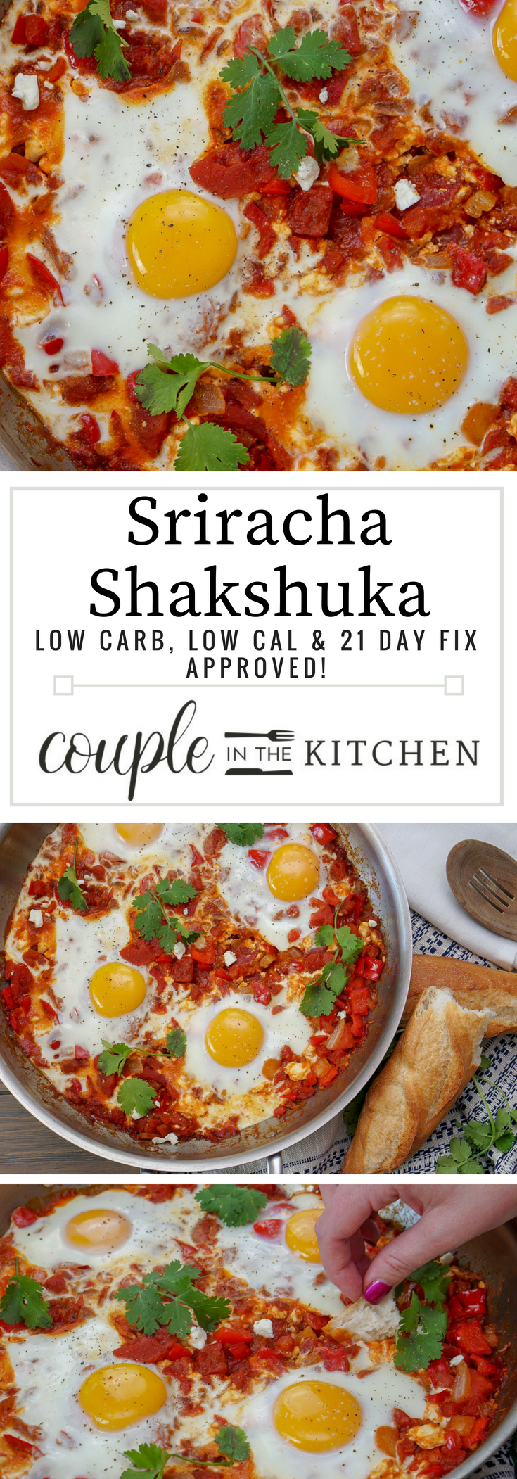 Healthy, Sriracha Shakshuka Recipe | coupleinthekitchen.com