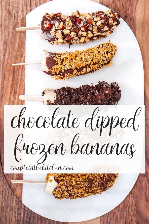 Easy, Chocolate Covered Frozen Bananas | coupleinthekitchen.com