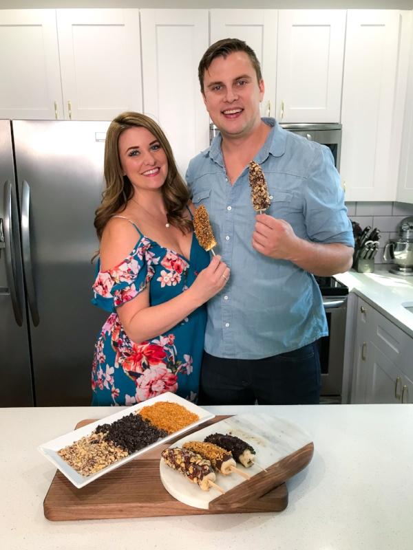 Chocolate Covered Frozen Bananas | coupleinthekitchen.com