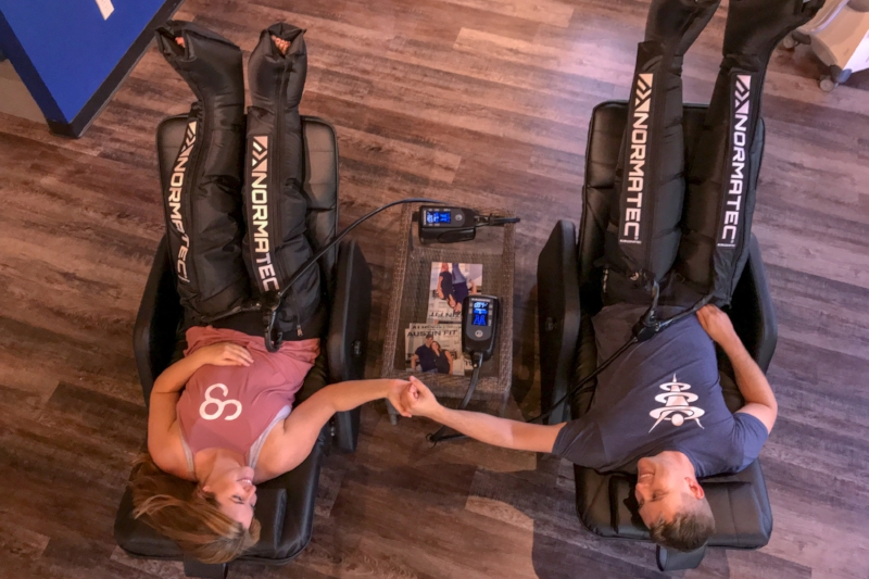 NormaTec Compression to Relieve Sore Feet and Legs