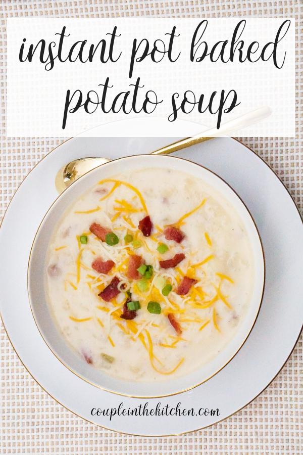Instant Pot Potato Soup Recipe | coupleinthekitchen.com