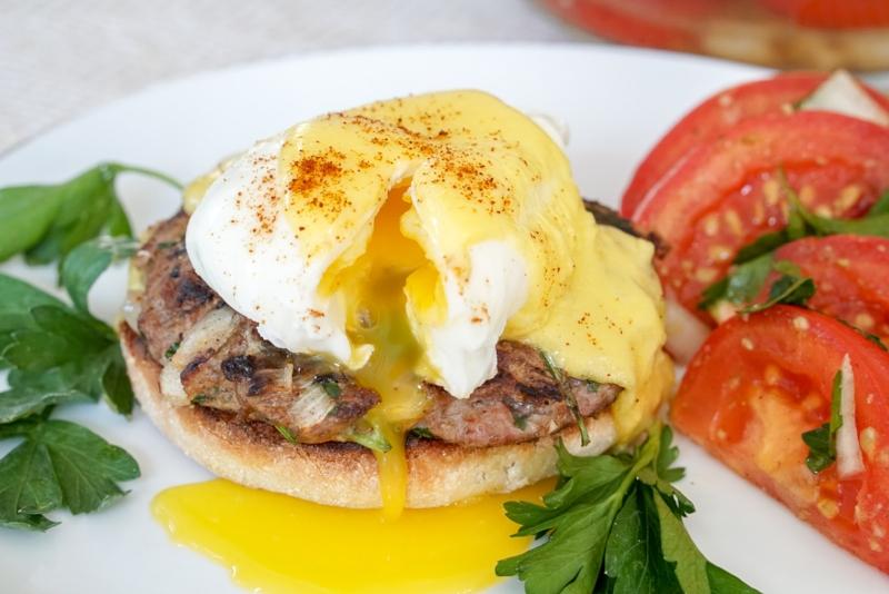 Moroccan Lamb Kofta Eggs Benedict Recipe | coupleinthekitchen.com