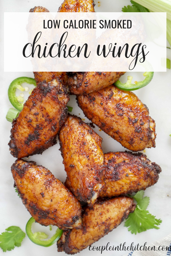 Low Calorie Dry Rubbed Smoked Chicken Wings | coupleinthekitchen.com
