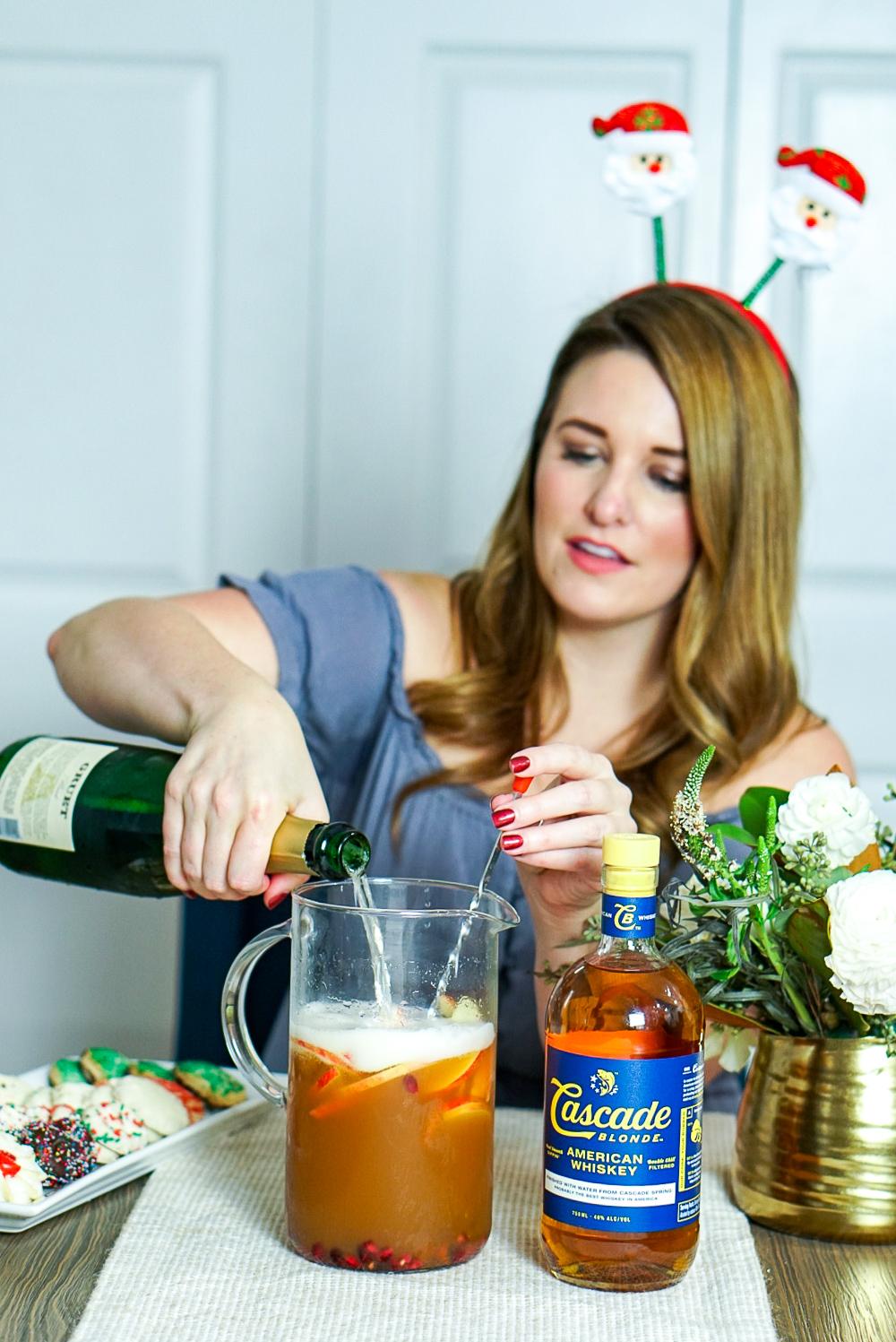 Whiskey Apple Cider Sangria Recipe | coupleinthekitchen.com