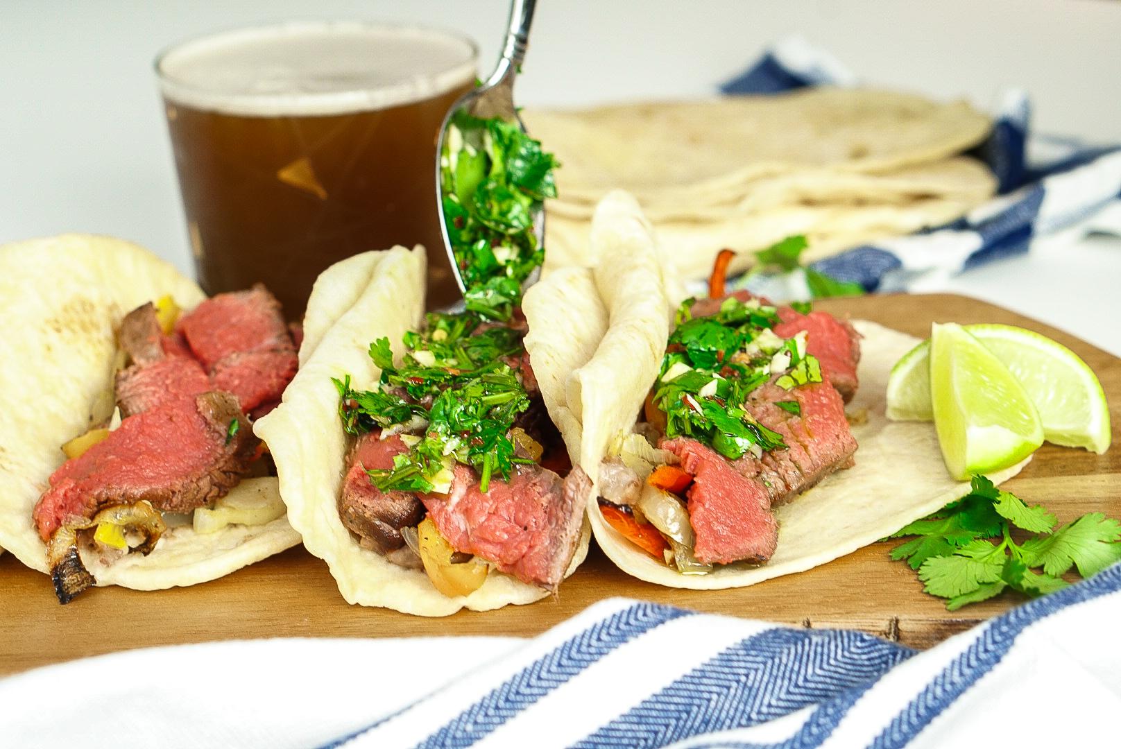 Easy, Cilantro Chimichurri Sauce Recipe | www.coupleinthekitchen.com