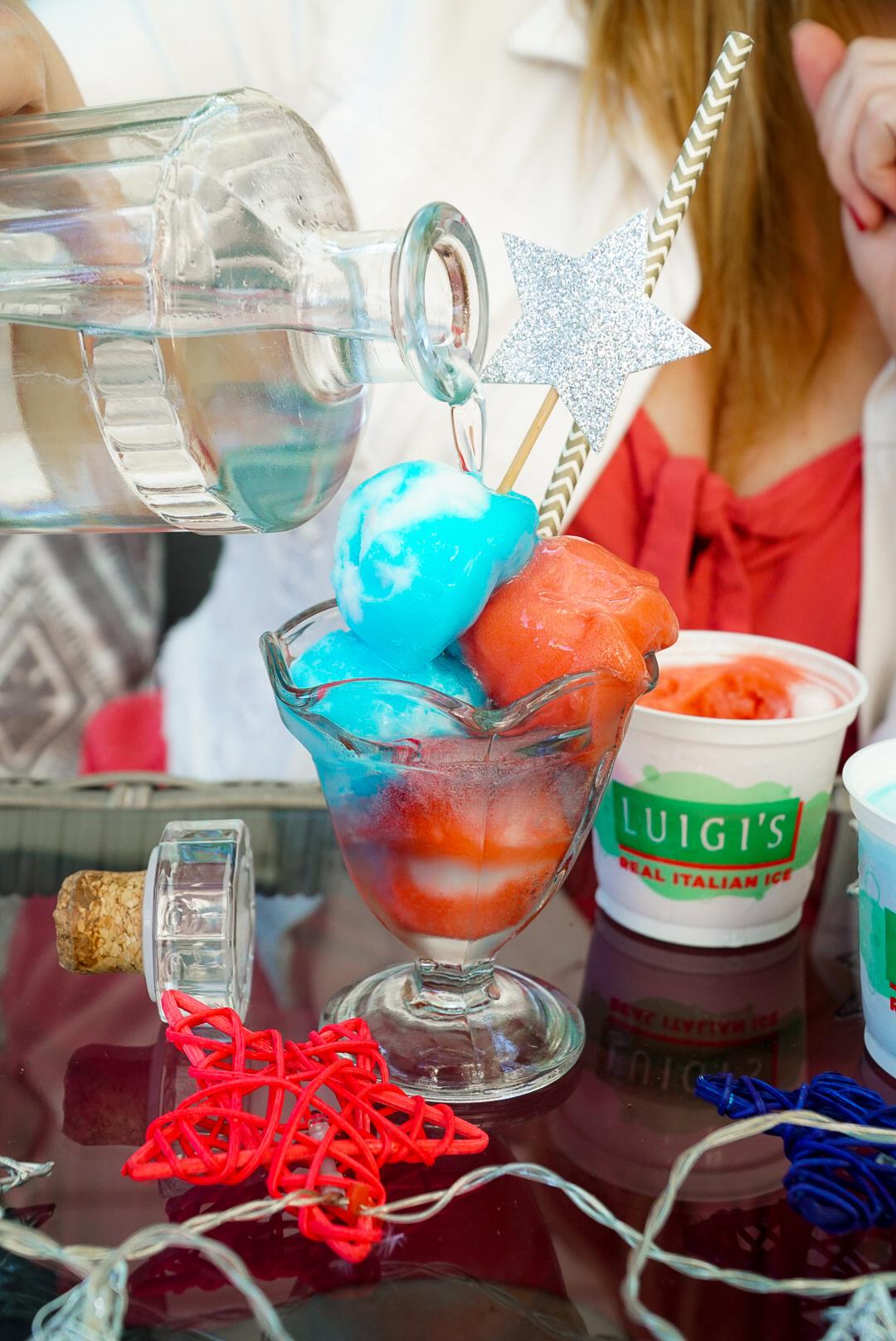 Red, White, and Blue Alcoholic Slushie Recipe | www.coupleinthekitchen.com