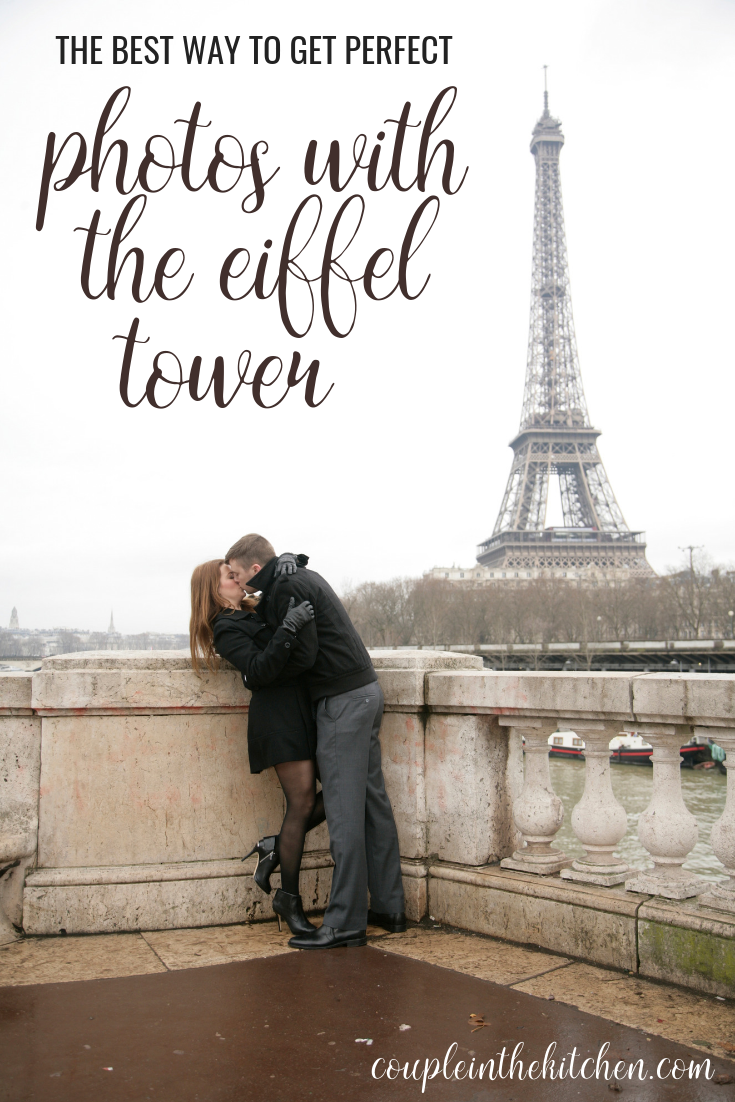Eiffel Tower Picture Ideas - Best Way to get Photos with the Eiffel Tower while in Paris | www.coupleinthekitchen.com
