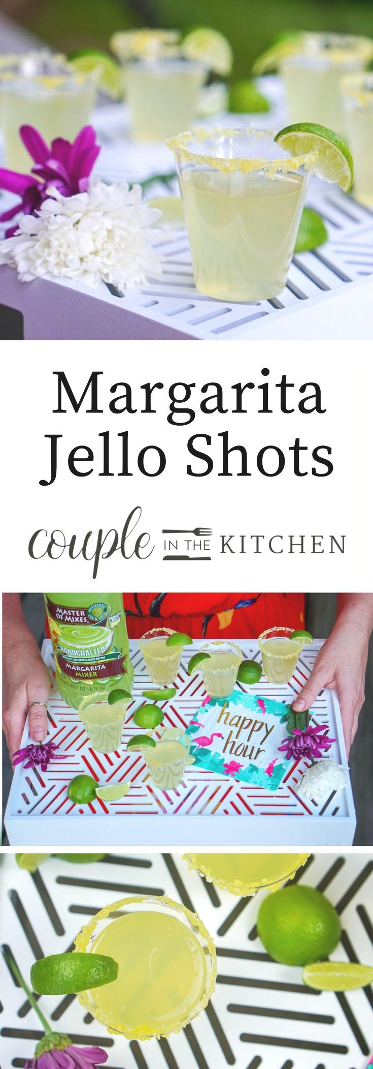 Margarita Jello Shots | coupleinthekitchen.com