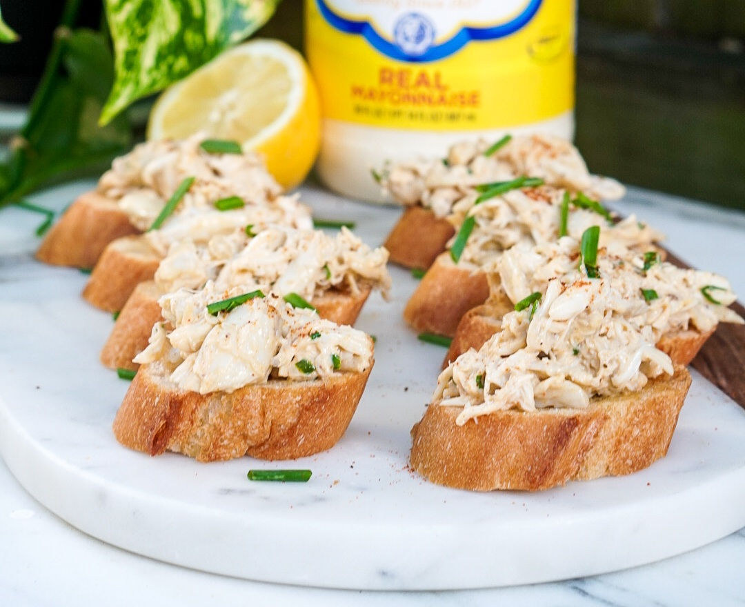 Crab Dip Recipe Crab Toast Crostini Appetizer Couple In The Kitchen