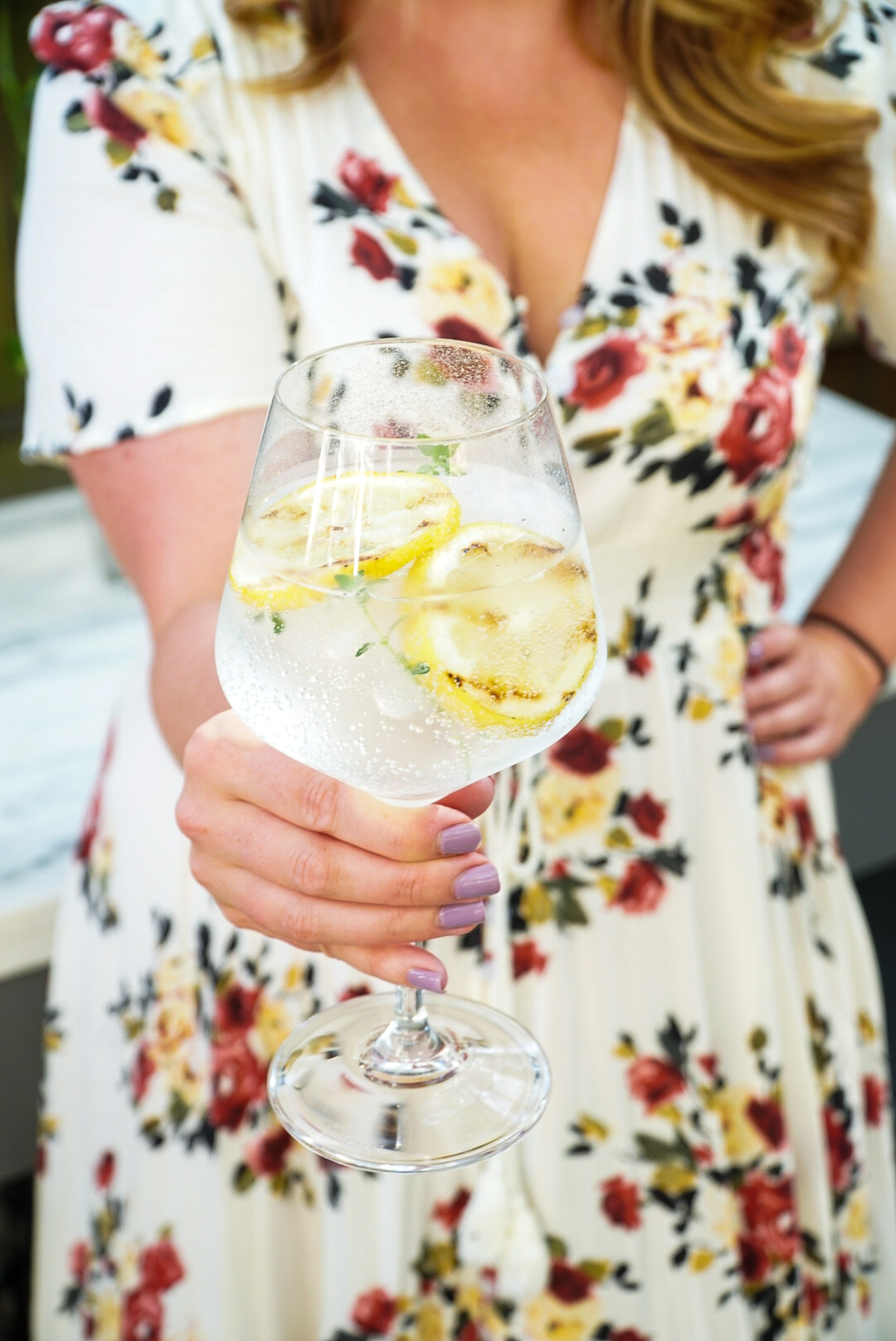 Grilled Lemon Gin and Tonic Summer Cocktail Recipe | coupleinthekitchen.com