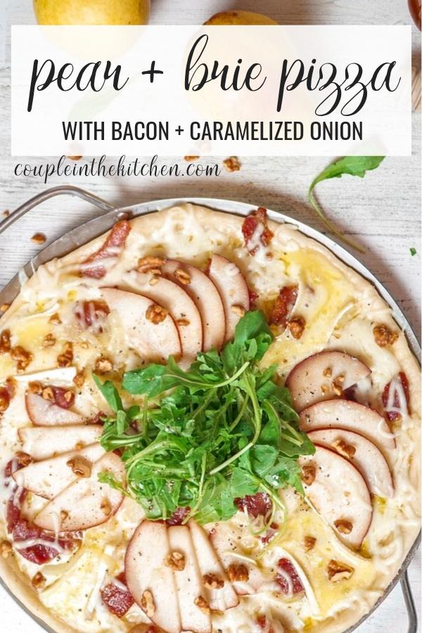 Pear, Bacon, Caramelized Onion, and Brie Pizza   www.coupleinthekitchen.com