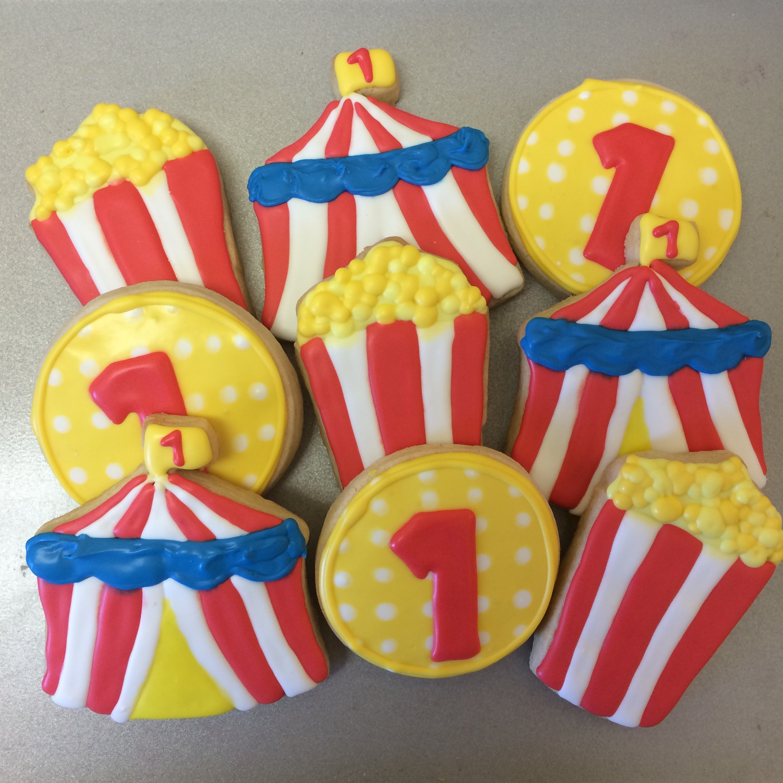1st Birthday Circus Sugar Cookies | Sugar Lab Bake Shop