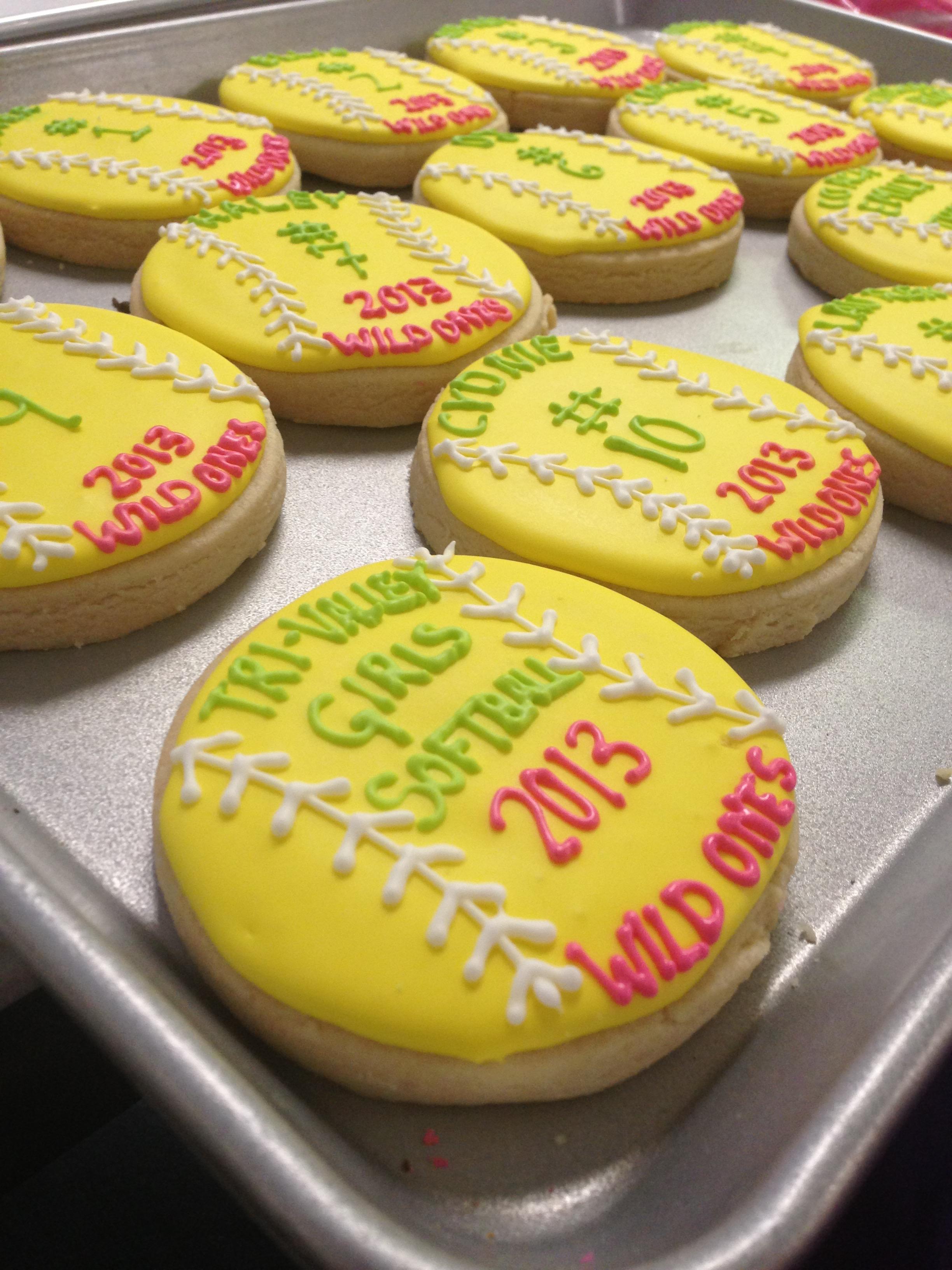 Softball Sugar Cookies | Sugar Lab Bake Shop
