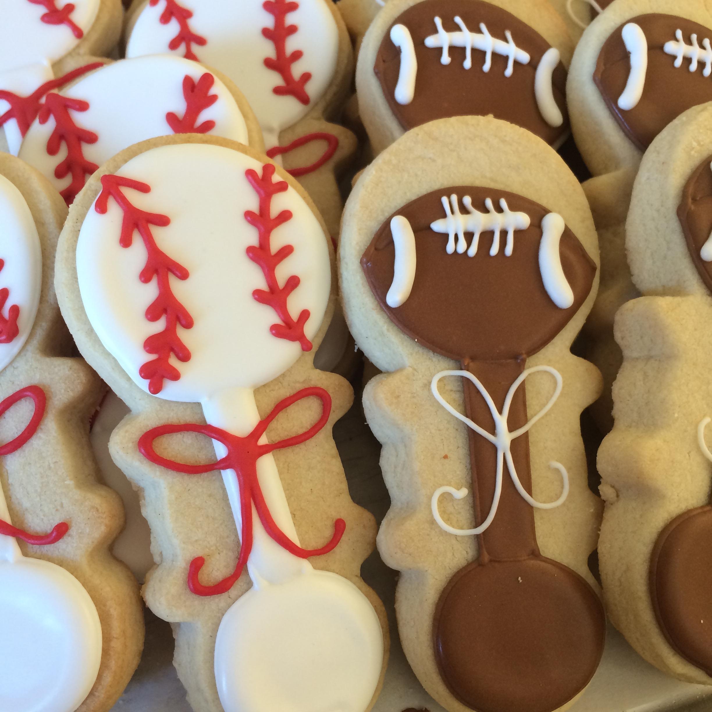 Sporty Baby Rattle Sugar Cookies | Sugar Lab Bake Shop