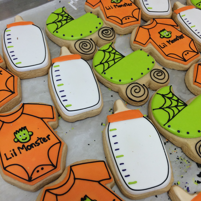Halloween Baby Shower Sugar Cookies | Sugar Lab Bake Shop