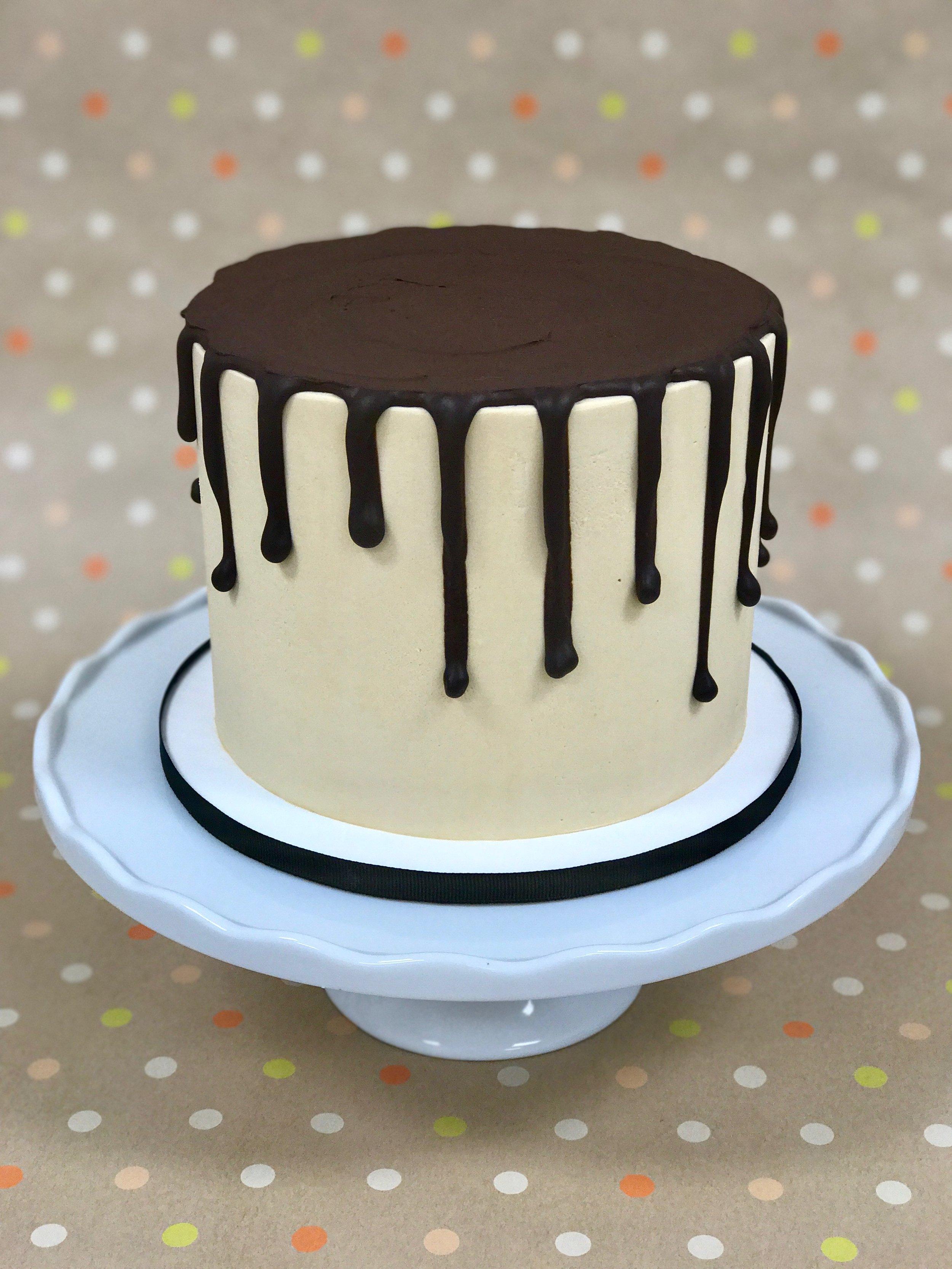 Chocolate Salted Caramel - Cake: ChocolateFilling: Salted Caramel ButtercreamFrosting: Salted Caramel Swiss Meringue Buttercream and Dark Chocolate Ganache