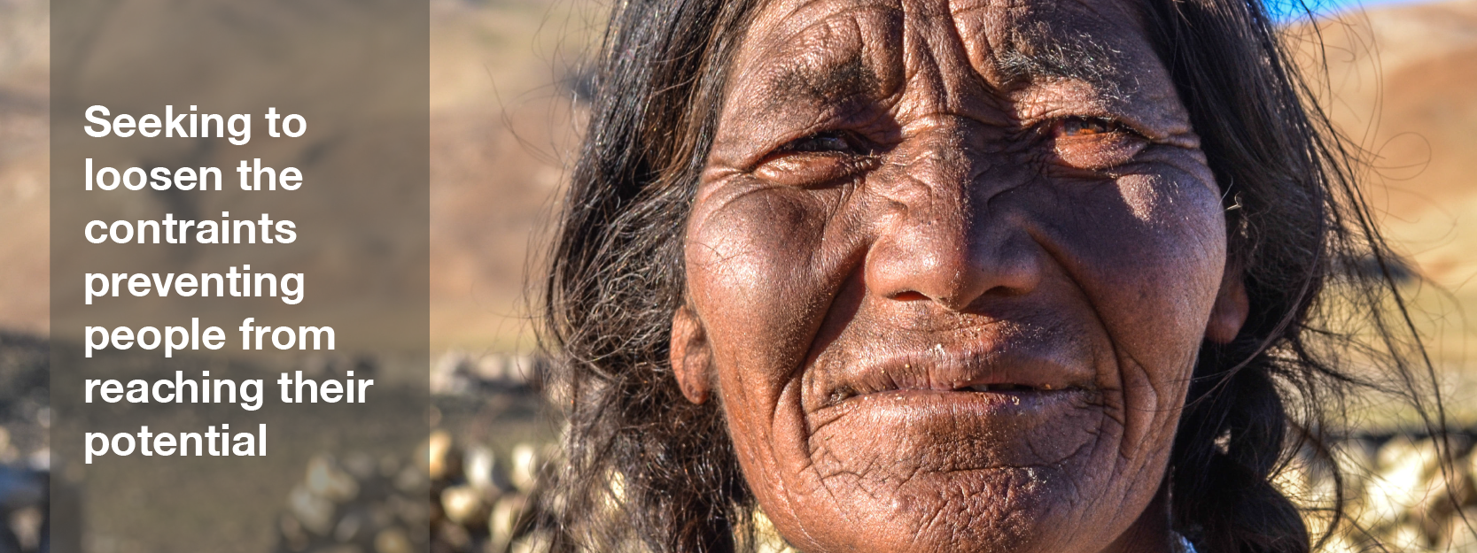 An older woman of the Ladakhi nomadic tribe in India.