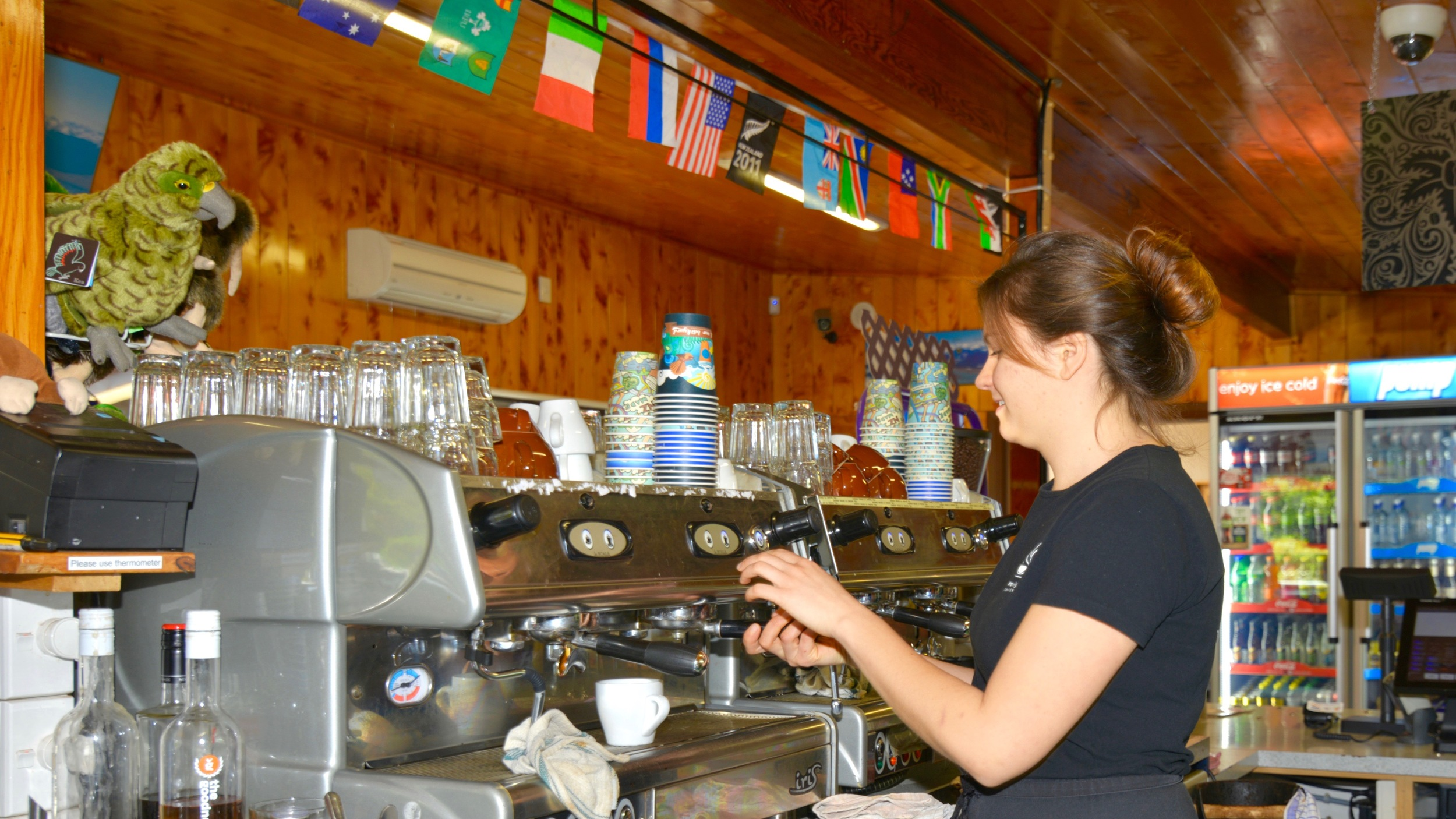 Our friendly team members make excellent coffee