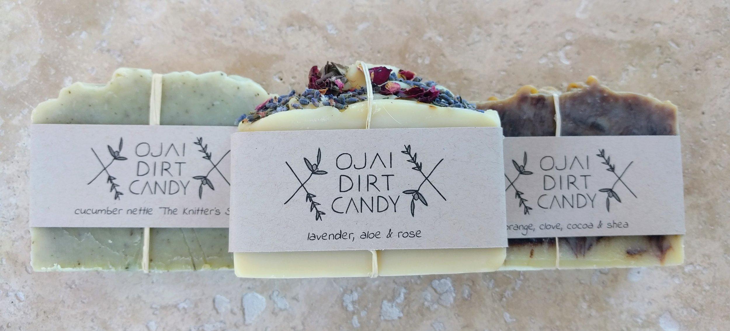 Ojai Dirt Candy handmade soap bars