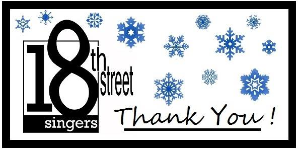 18th Street Singers Thank You