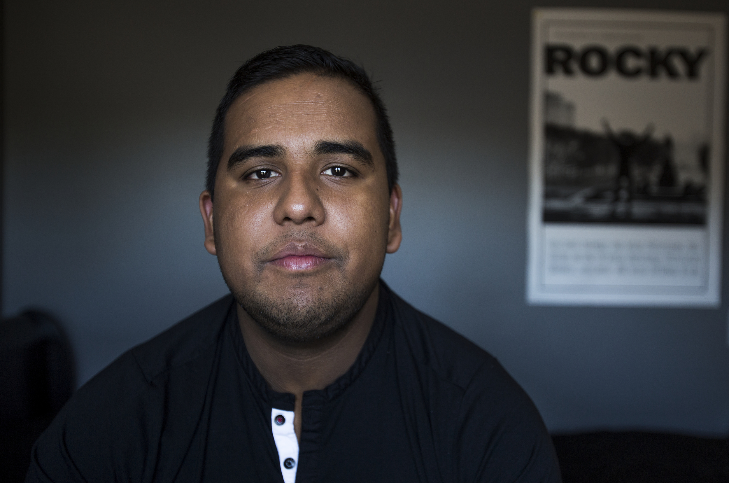 While sitting on the edge of his bed, Edwin Silva, 22, of Westland speaks about his situation as he battles to become an American citizen. Silva was detained by ICE on July 23, 2015 after receiving a DUI which prevented him from renewing his visa.