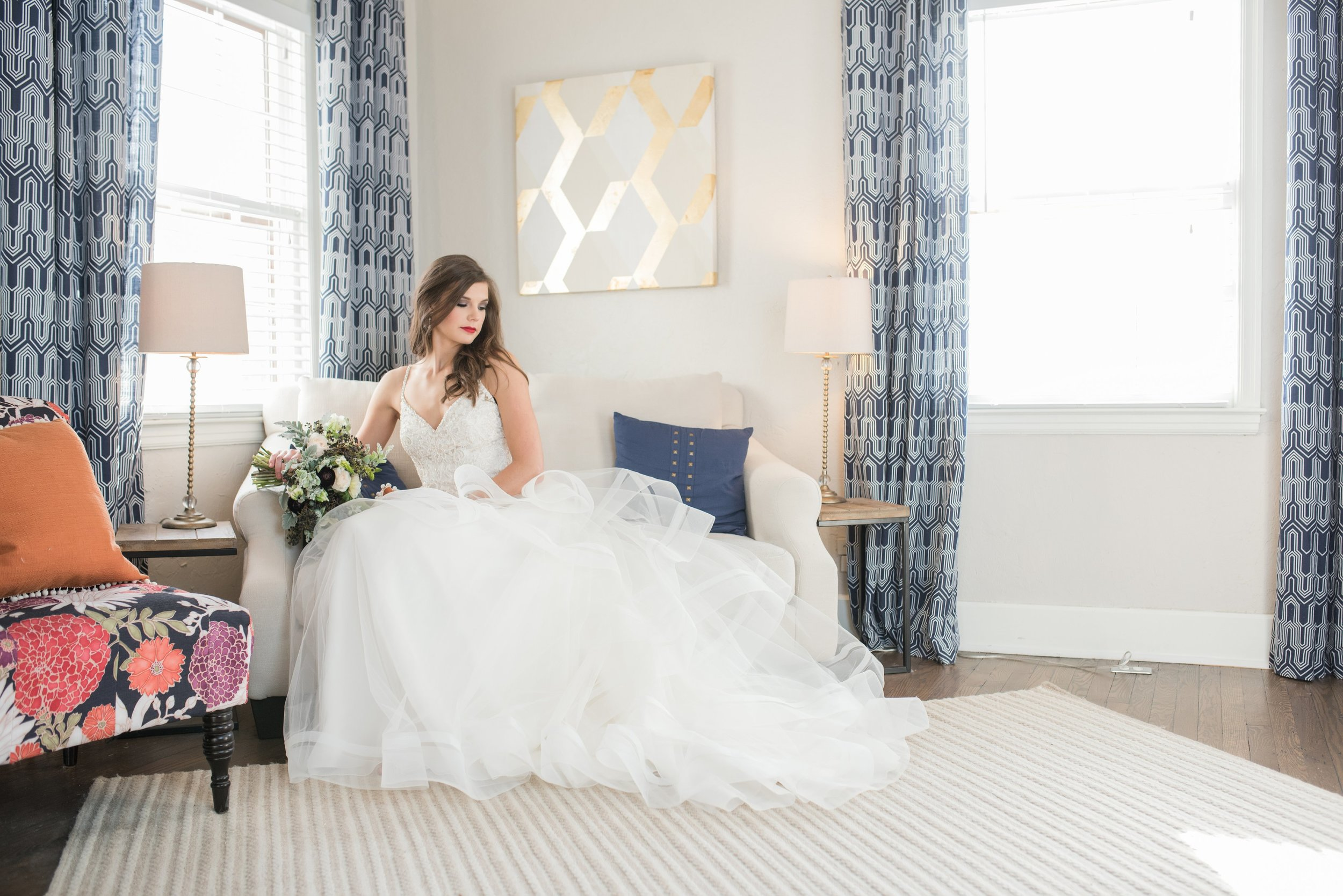 Our private bridal suites offer all the comforts of home while shopping with friends and family!