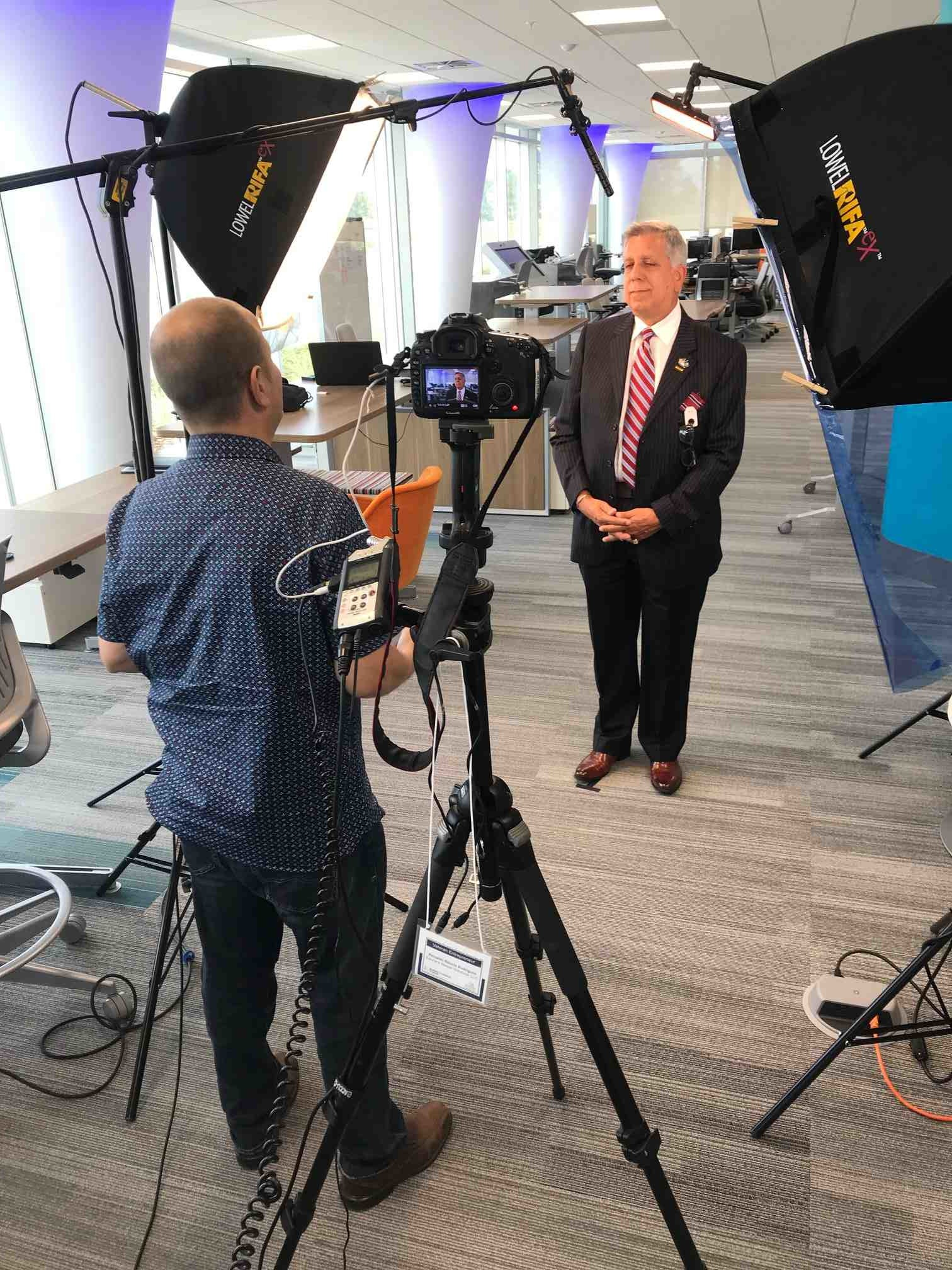 Whitney Media Productions videotaping at the Guidewell Innovation Center in Lake Nona for UCF