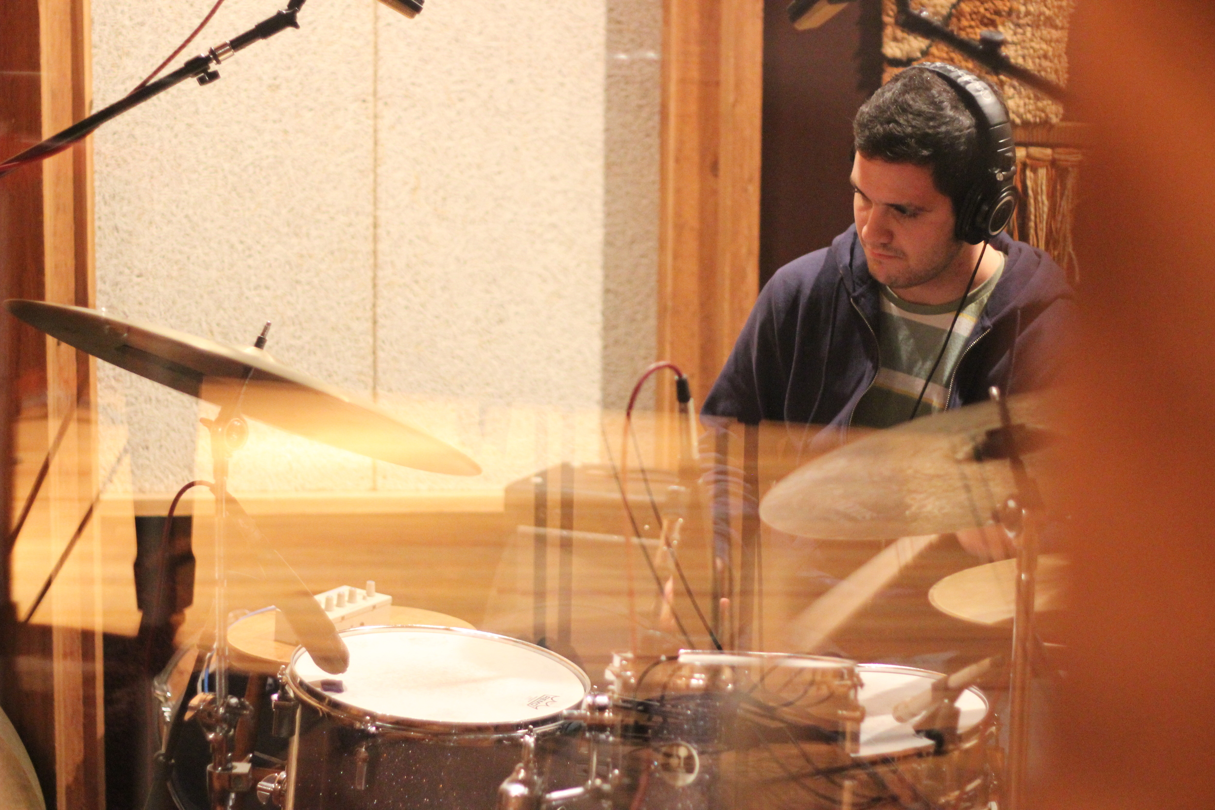 "Nick Bracewell in the studio recording ""Rootless"""