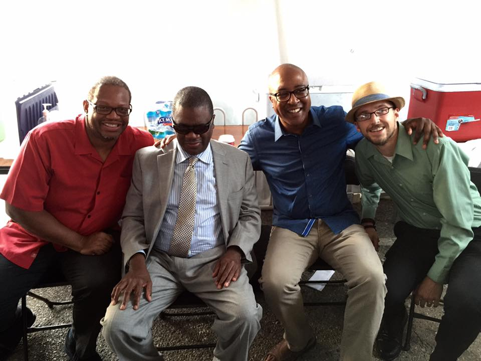 With Reggie Thomas, Marcus Roberts, and Xavier Davis at the E Lansing Summer Solstice Fest