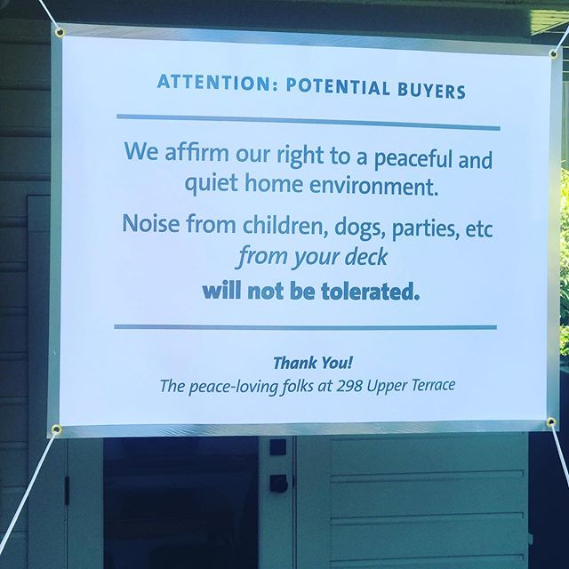 Never a dull moment in SF real estate! #Lovewhereyoulive #benice #loveyourneighbors