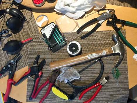 Deciding on which tools to use.